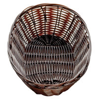 Tablecraft 1474 9 inch x 6 inch x 2 1/4 inch Brown Oval Rattan Basket - 12/Pack