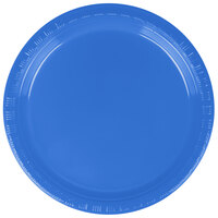 Creative Converting 28145011B 7 inch True Blue Plastic Plate - 50 / Pack