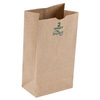 Duro Husky Heavy-Duty 2 lb. Brown Paper Bag - 500 / Bundle