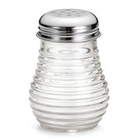 American Metalcraft BEE606 6 oz. Beehive Cheese / Pepper Shaker with Chrome-Plated Top 12 / Pack