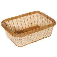 GET WB-1518-TT Designer Polyweave Plastic Rectangular Basket 15 inch x 11 inch x 5 inch - 6 / Pack