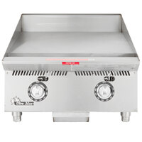 Star 824TA Ultra Max 24 inch Countertop Gas Griddle with Snap Action Controls - 60,000 BTU