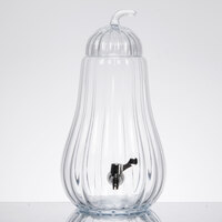 1.75 Gallon Style Setter Optic Pear Glass Beverage Dispenser