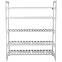 Cambro Camshelving Premium CPU187284V5PKG480 Shelving Unit with 5 Vented Shelves 18 inch x 72 inch x 84 inch