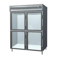 Delfield SMDRL2-GH 49.92 Cu. Ft. Glass Half Door Dual Temperature Reach In Refrigerator / Freezer - Specification Line