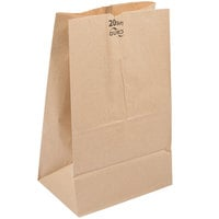 Duro 20 lb. Shorty Brown Paper Bag - 500/Bundle