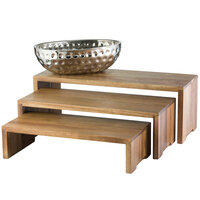 Tablecraft RACA300 Acacia Wood 3-Piece Cascade Riser Set