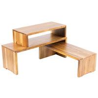 Tablecraft RACA300 Acacia Wood 3-Piece Cascade Riser Set