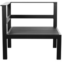 BFM Seating PH6101BL-R Belmar Black Aluminum Outdoor / Indoor Cushion Armchair with Right Armrest