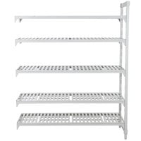 Cambro Camshelving Premium CPA184884V5PKG480 Vented Add On Unit 18 inch x 48 inch x 84 inch - 5 Shelf