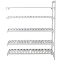 Cambro Camshelving Premium CPA183084V5PKG480 Vented Add On Unit 18 inch x 30 inch x 84 inch - 5 Shelf