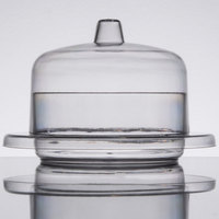 Fineline 6700-CL Tiny Temptations 2 oz. Clear Round Tray with Lid - 120/Case