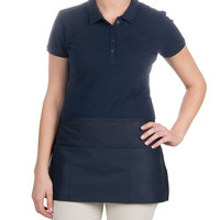 Choice 12 inch x 24 inch Navy Blue Front of the House Waist Apron