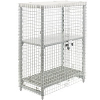 Cambro Camshelving CPU244864SUPKG480 Stationary Security Cage Kit - 26 3/4 inch x 50 1/4 inch x 64 1/2 inch