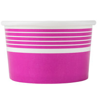 Choice 8 oz. Pink Paper Frozen Yogurt Cup - 50 / Pack