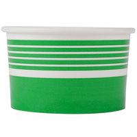 Choice 6 oz. Green Paper Frozen Yogurt Cup   - 50/Pack