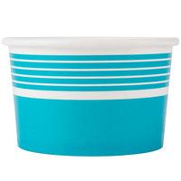 Choice 8 oz. Blue Paper Frozen Yogurt Cup   - 50/Pack