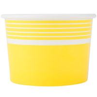 Choice 12 oz. Yellow Paper Frozen Yogurt Cup - 1000/Case