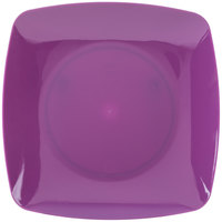 Fineline 1506-PRP Renaissance 5 1/2 inch Purple Square Dessert Plate - 120 / Case
