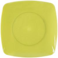 Fineline 1506-GRN Renaissance 5 1/2 inch Green Square Dessert Plate - 120 / Case