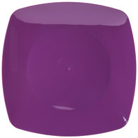Fineline 1510-PRP Renaissance 10 inch Purple Square Dinner Plate - 120 / Case