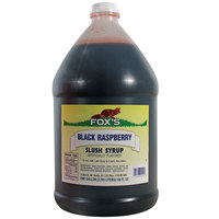 Fox's Black Raspberry Slush Syrup - (4) 1 Gallon Containers / Case