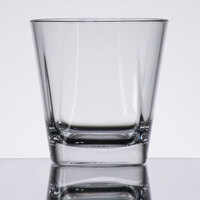 GET SW-1470-CL Cubed 9 oz. Clear Plastic Rocks Glass - 24/Case