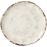 GET CS-10-FM French Mill 10 1/2 inch Irregular Round Coupe Plate - 12 / Case