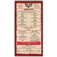 Menu Solutions H500B SILVR Hamilton 5 1/2 inch x 11 inch Single Panel Two View Silver Menu Board