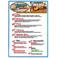Menu Solutions H500F SKY Hamilton 10 inch x 14 inch Single Panel Two View Sky Blue Menu Board