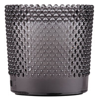 Sterno Products 60182 Hobnail 3 1/2 inch Gray Flameless Wax Filled Glass Lamp - 4/Case