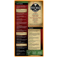 Menu Solutions H500B MANDRN Hamilton 5 1/2 inch x 11 inch Single Panel Two View Mandarin Menu Board