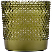 Sterno Products 60188 Hobnail 3 1/2 inch Green Flameless Wax Filled Glass Lamp - 4/Case