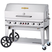 Crown Verity RCB-48RDP 48 inch Pro Series Outdoor Rental Grill with Roll Dome Package