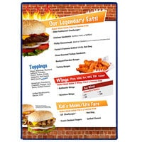 Menu Solutions H500F ROY BL Hamilton 10 inch x 14 inch Single Panel Two View Royal Blue Menu Board