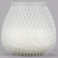 Sterno Products 40134 Euro-Lowboy 45 Hour Frost Wax Filled Glass Candle - 12/Case