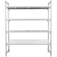 Cambro Camshelving Premium CPU214272VS4480 Stationary Starter Unit with 3 Vented Shelves and 1 Solid Shelf - 21 inch x 42 inch x 72 inch