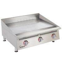 Star 836TCHSA Ultra-Max 36 inch Countertop Gas Griddle with Snap-Action Thermostatic Controls and Chrome Plate - 90,000 BTU