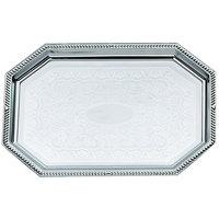 Vollrath 47263 Odyssey 20 inch x 13 3/4 inch 8-Sided Chrome Plated Tray
