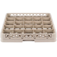 Vollrath TR13B Traex Low Profile Full-Size Beige 25-Compartment 2 1/16 inch Glass Rack with 1 Extender