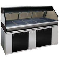 Alto-Shaam EU2SYS-72 SS Stainless Steel Cook / Hold / Display Case with Curved Glass and Base - Full Service, 72 inch