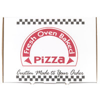 17 inch x 25 inch White Corrugated Pizza Box   - 25/Case