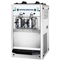 Spaceman 6455H 2 Bowl Slushy / Granita Stainless Steel Frozen Drink Machine - 120V