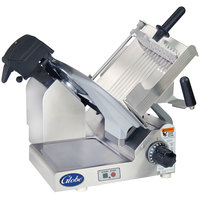 "Globe 4600N 13"" Heavy Duty Manual Gravity Feed Slicer - 1/2 hp"