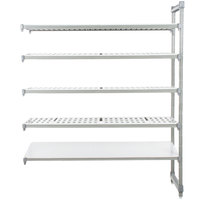 Cambro Camshelving Elements EA213084VS5580 Stationary Add-On Shelving Unit with 4 Vented Shelves and 1 Solid Shelf - 21 inch x 30 inch x 84 inch