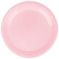 Creative Converting 28158021 9 inch Classic Pink Plastic Dinner Plate - 20 / Pack