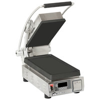 Star PST7IE Pro-Max 2.0 Single 9 1/2 inch Panini Grill with Smooth Cast Iron Plates - Electronic Controls