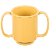 GET SN-103-TY 8 oz. Tropical Yellow Tritan Two Handle Mug - 24/Case