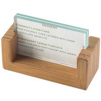 Cal-Mil 1510-32-60 U-Frame Bamboo 3 1/2 inch x 2 inch Cardholder