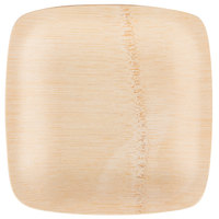 Bambu 064300 5 inch Disposable Square Bamboo Appetizer Plate - 100/Case